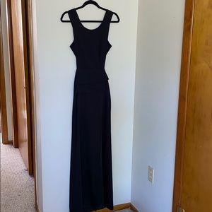 BCBG Maxazria open back black sexy gown, 0